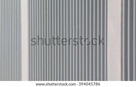 metal plate fence background - stock photo