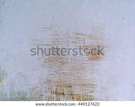 Metal plate rust for background and texture. - stock photo