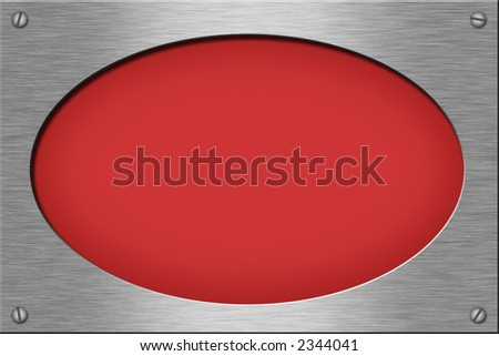 Metal plate series: oval. With room for text. - stock photo