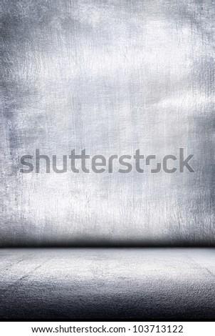 Metal plate steel background. Metal interior. - stock photo