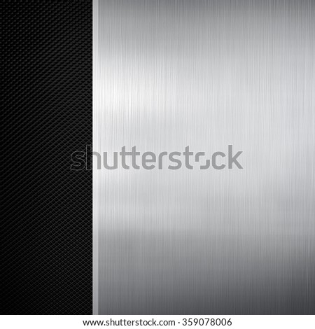 metal plate with metal mesh background - stock photo