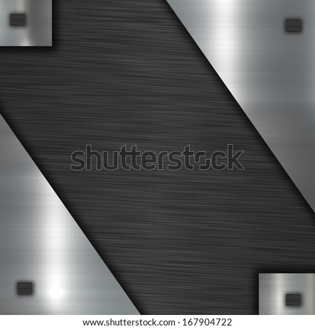 metal plate with place for text - stock photo