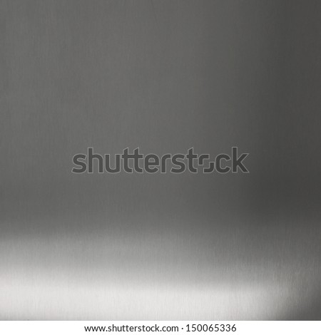 Metal plate with shadow - stock photo