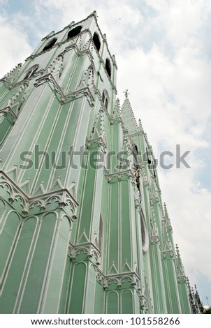 Metal Prefabricated Church - stock photo
