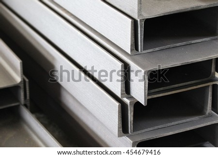 metal profile channel for use in structures, warehouse