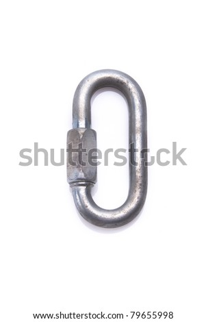 Metal quick link - stock photo