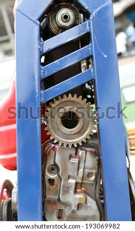 metal robot parts - stock photo