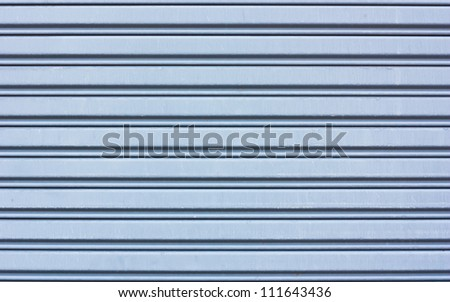 metal roller shutter use as background or textures - stock photo