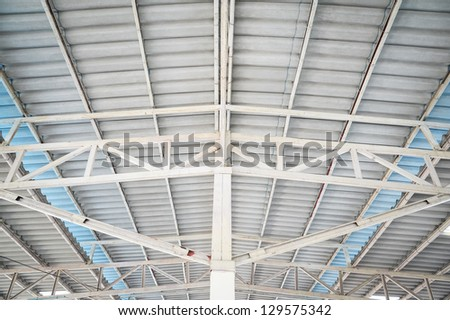 metal roof structure - stock photo