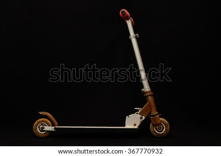 metal scooter for child - stock photo
