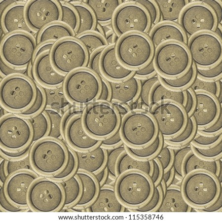 metal sewing buttons background