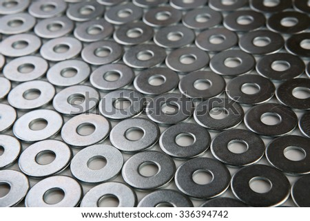metal shining washers background