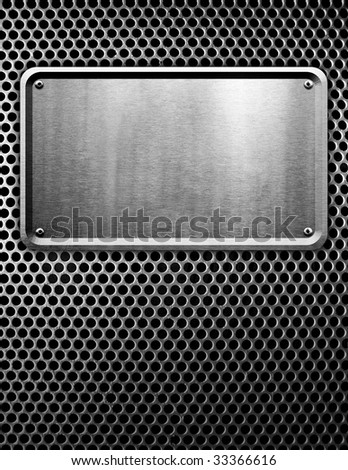 metal sign background - stock photo