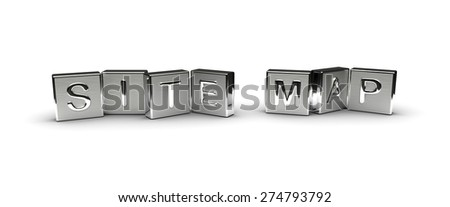 Metal Site Map Text (isolated on white background) - stock photo