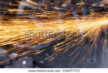 metal sparks during operation