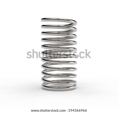 metal spring isolated on white background