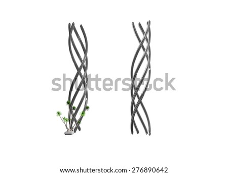 Metal springs. 3d Illustration isolated White Background - stock photo