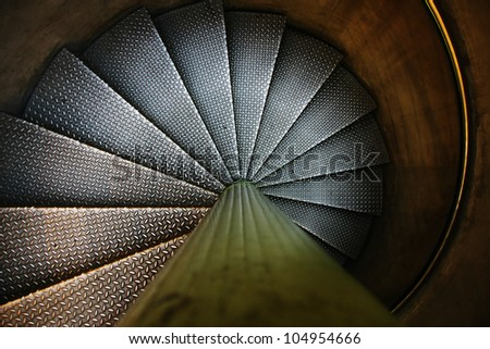 metal stairway. - stock photo