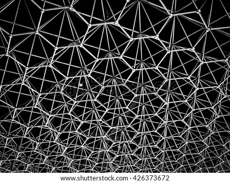 metal structure background - stock photo