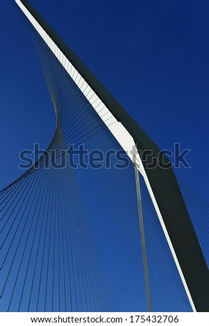 Metal structure of a bridge - stock photo