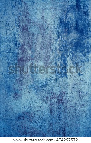 Metal surface painted in blue color.