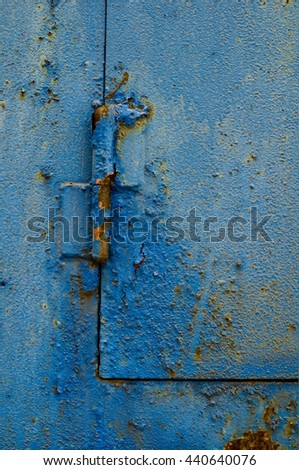metal surface with hinge - stock photo