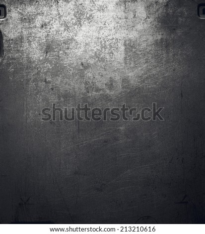 Metal surface with scratches and dents. - stock photo