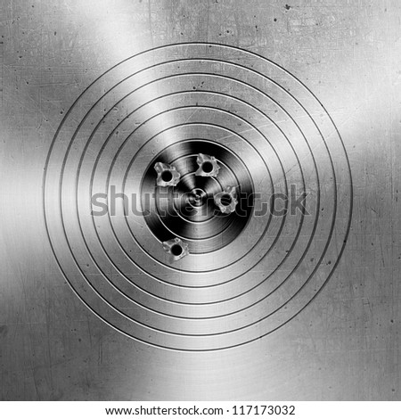 Metal targets background - stock photo