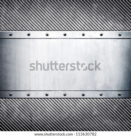 metal template - stock photo