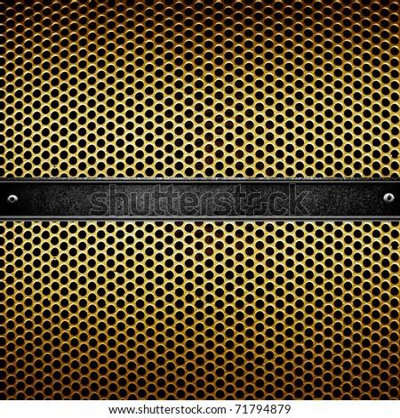 metal template design - stock photo