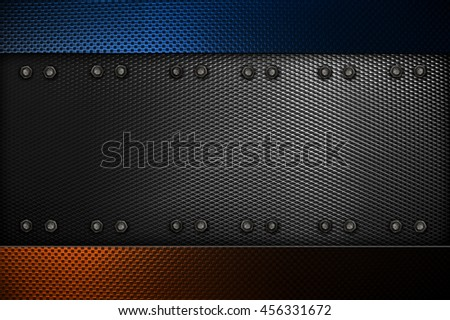 metal template design background - stock photo