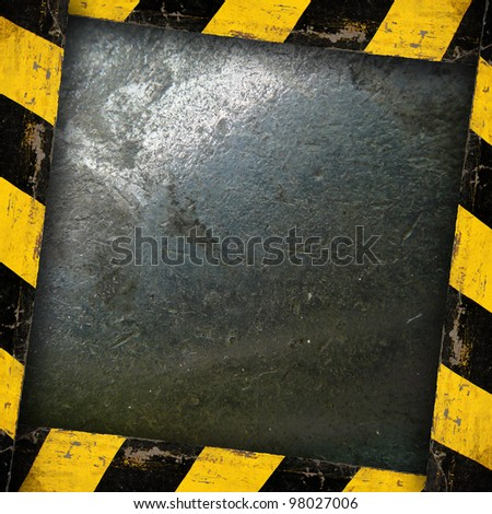 Metal Template With Belt Warning - stock photo