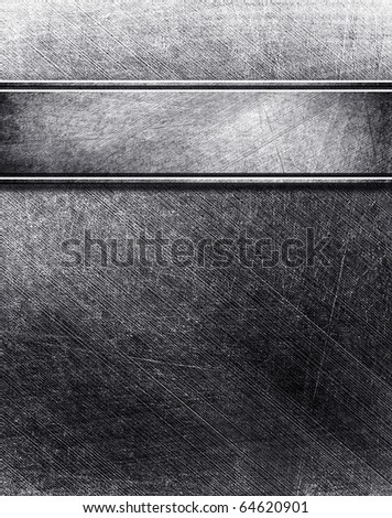 metal template with strip - stock photo