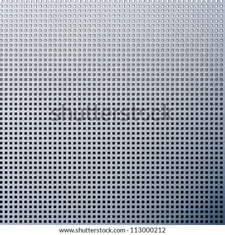 metal texture background abstract metallic plate with small blocks grille pattern - stock photo