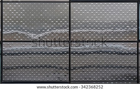 metal texture on a modern building  - stock photo