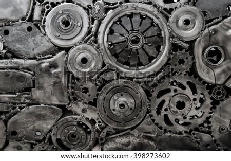 Metal texture on monochrome  - stock photo