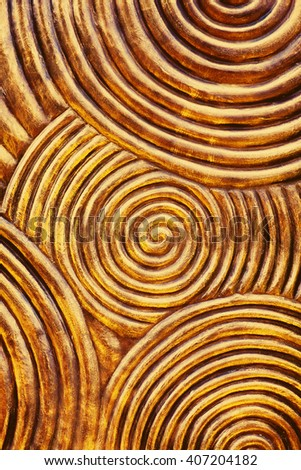 Metal texture with curved pattern - stock photo