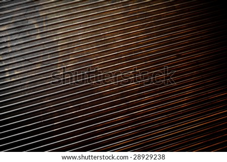 Metal Texture with Reflected Flame - stock photo