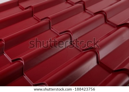 Metal tile. Material for roof. - stock photo