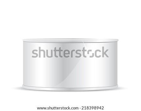 Metal tin can - stock photo