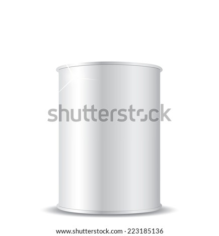 Metal tin can - stock photo