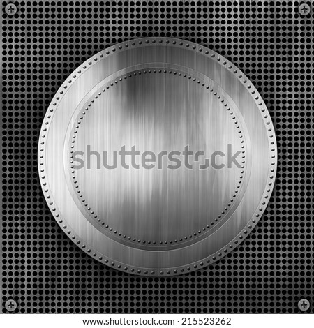 Metal Trophies plate background - stock photo