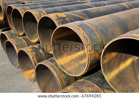 Metal tubes - stock photo