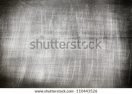 Metal vintage background texture with scratches - stock photo