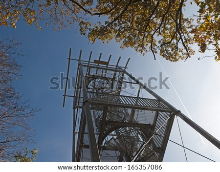 Metal watchtower in Brno-Sobesice