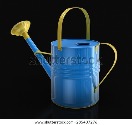 Metal Watering Can (clipping path included)