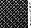 Metal wire mesh isolated on the black background - stock photo