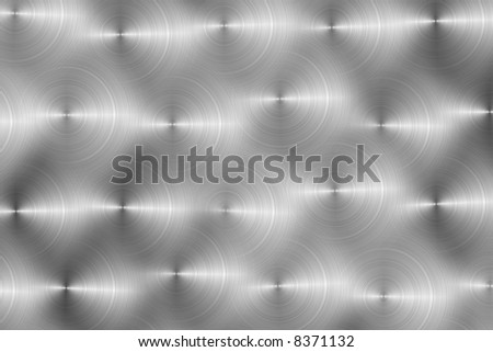 metallic background texture with circle pattern - stock photo