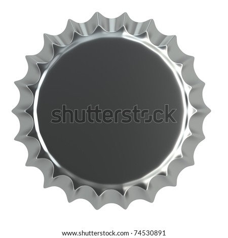 metallic bottle cap 3d illustration  isolated on white - stock photo