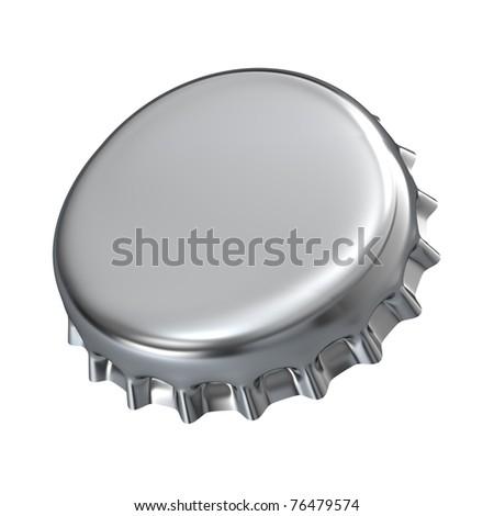 Metallic bottle cap - 3d render - stock photo